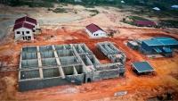 Kumasi (Ghána) szennyvíztisztító telep